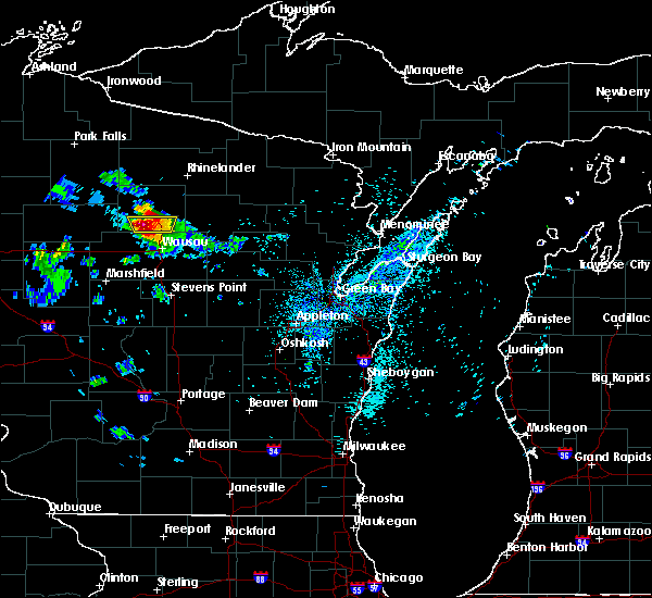 Radar Image for Severe Thunderstorms near Merrill, WI at 8/2/2015 1:23 AM CDT