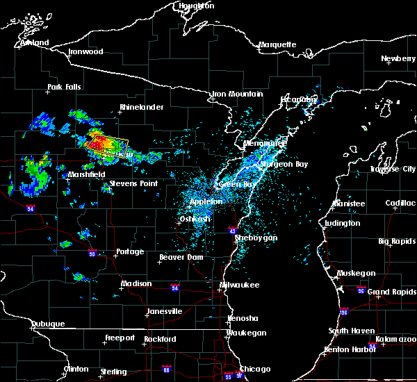 Radar Image for Severe Thunderstorms near Merrill, WI at 8/2/2015 1:32 AM CDT