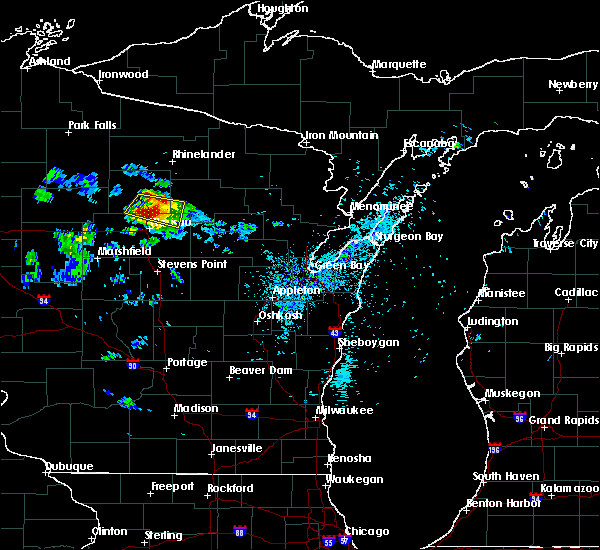 Radar Image for Severe Thunderstorms near Merrill, WI at 8/2/2015 1:44 AM CDT