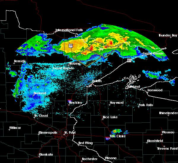 Radar Image for Severe Thunderstorms near Aurora, MN at 8/2/2015 2:50 AM CDT