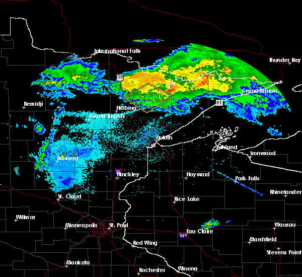 Radar Image for Severe Thunderstorms near Aurora, MN at 8/2/2015 3:06 AM CDT