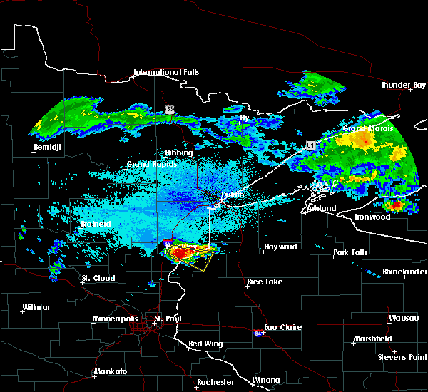 Radar Image for Severe Thunderstorms near Danbury, WI at 8/2/2015 4:49 AM CDT