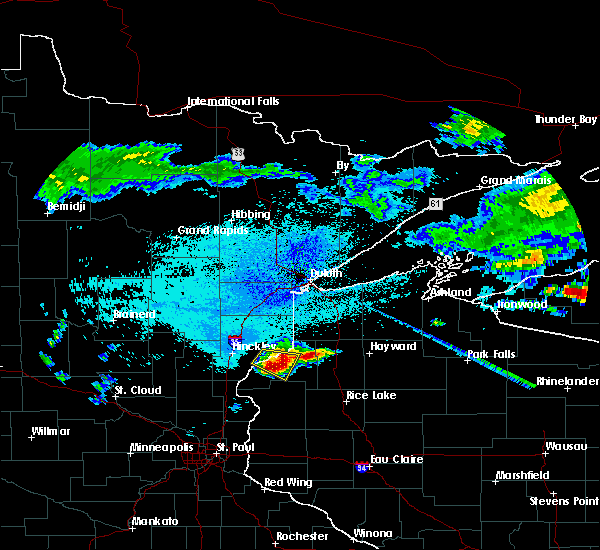 Radar Image for Severe Thunderstorms near Danbury, WI at 8/2/2015 5:03 AM CDT