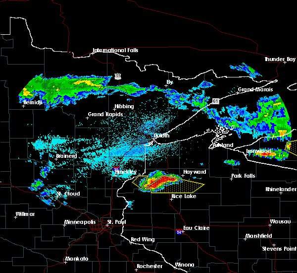 Radar Image for Severe Thunderstorms near Chief Lake, WI at 8/2/2015 5:27 AM CDT