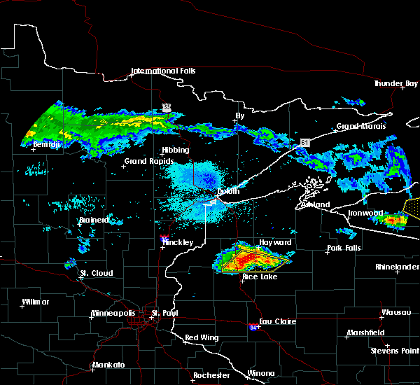 Radar Image for Severe Thunderstorms near Chief Lake, WI at 8/2/2015 5:42 AM CDT