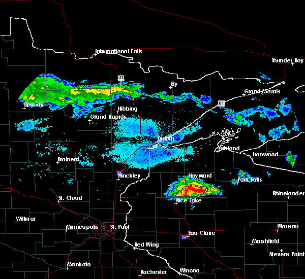 Radar Image for Severe Thunderstorms near Chief Lake, WI at 8/2/2015 5:56 AM CDT