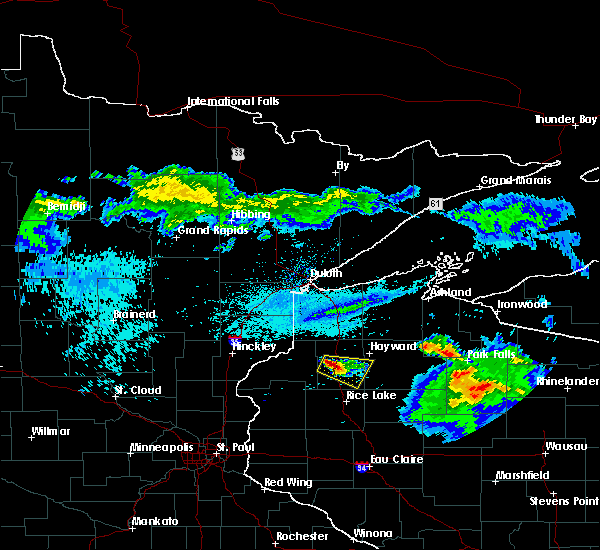 Radar Image for Severe Thunderstorms near Spooner, WI at 8/2/2015 6:49 AM CDT