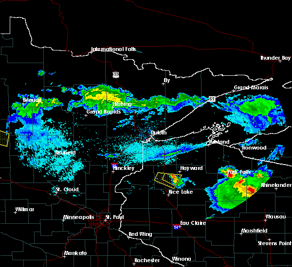 Radar Image for Severe Thunderstorms near Trego, WI at 8/2/2015 7:07 AM CDT