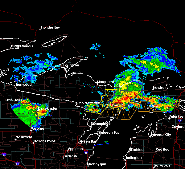 Radar Image for Severe Thunderstorms near Manistique, MI at 8/2/2015 8:44 AM EDT