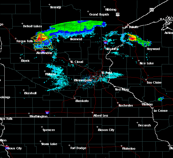 Radar Image for Severe Thunderstorms near Bertha, MN at 8/2/2015 8:17 AM CDT