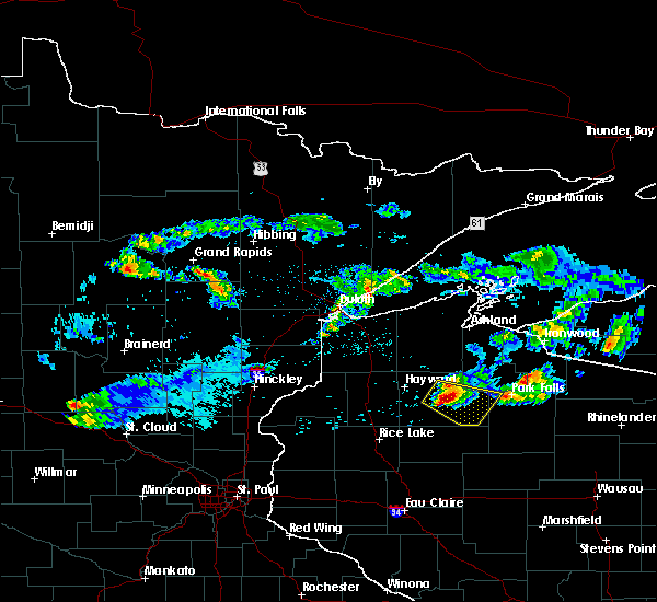 Radar Image for Severe Thunderstorms near Chief Lake, WI at 8/2/2015 9:24 AM CDT