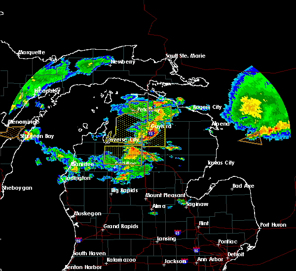 Radar Image for Severe Thunderstorms near South Boardman, MI at 8/2/2015 12:47 PM EDT