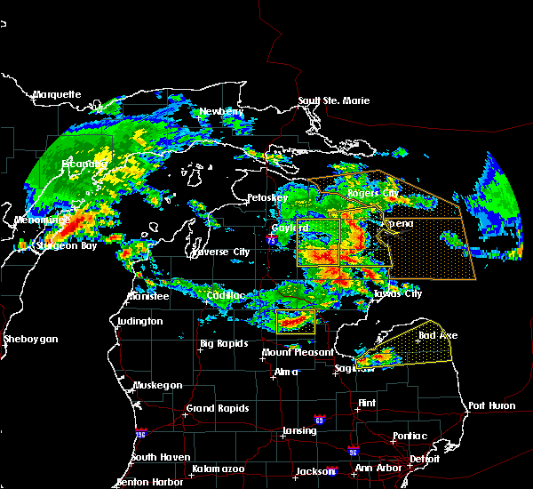 Radar Image for Severe Thunderstorms near Au Sable, MI at 8/2/2015 1:39 PM EDT