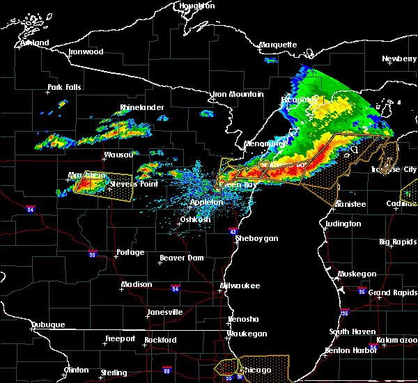 Radar Image for Severe Thunderstorms near Polonia, WI at 8/2/2015 2:54 PM CDT