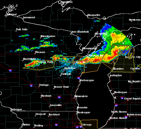 Radar Image for Severe Thunderstorms near Casco, WI at 8/2/2015 3:09 PM CDT