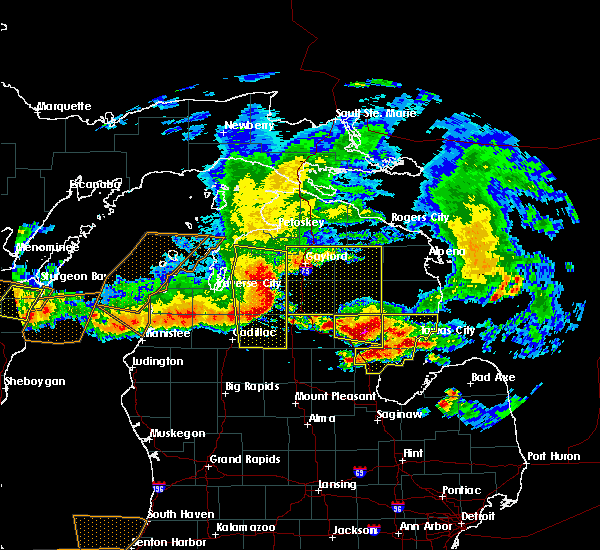 Radar Image for Severe Thunderstorms near Au Sable, MI at 8/2/2015 5:03 PM EDT