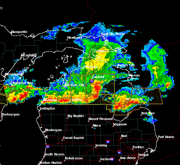 Radar Image for Severe Thunderstorms near Au Sable, MI at 8/2/2015 5:30 PM EDT