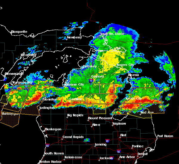 Radar Image for Severe Thunderstorms near Au Sable, MI at 8/2/2015 5:59 PM EDT