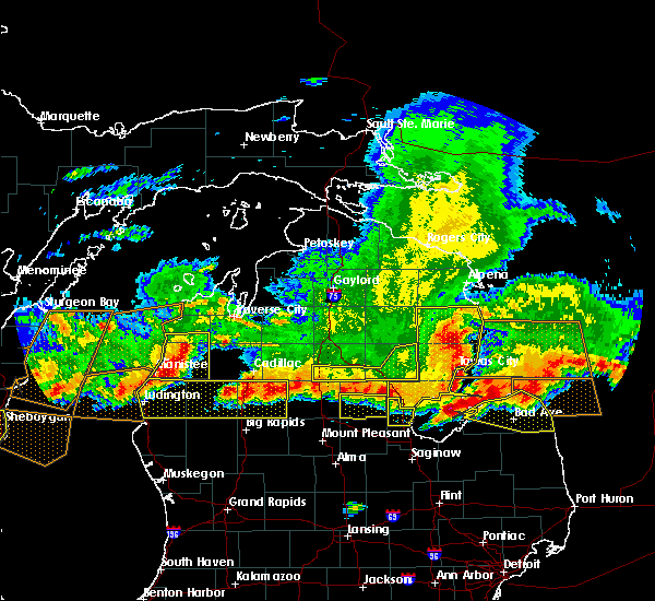 Radar Image for Severe Thunderstorms near Au Sable, MI at 8/2/2015 6:21 PM EDT