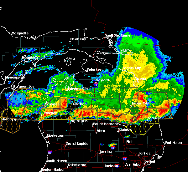 Radar Image for Severe Thunderstorms near Au Sable, MI at 8/2/2015 6:39 PM EDT