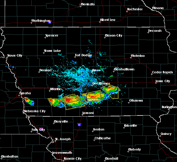 Radar Image for Severe Thunderstorms near Murray, IA at 8/2/2015 6:31 PM CDT