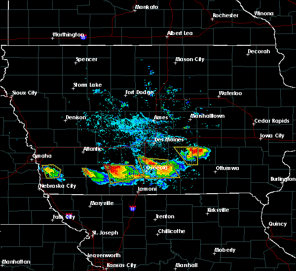 Radar Image for Severe Thunderstorms near Murray, IA at 8/2/2015 6:50 PM CDT