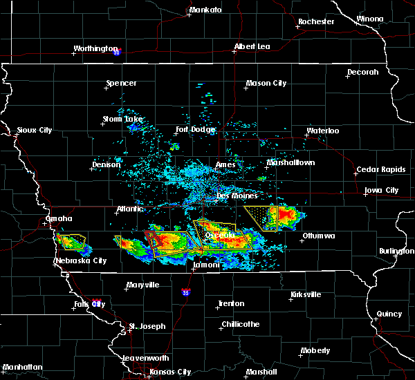 Radar Image for Severe Thunderstorms near Cromwell, IA at 8/2/2015 6:58 PM CDT