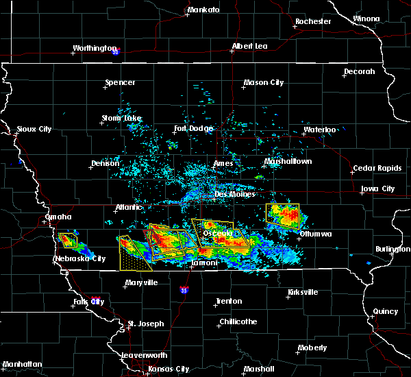 Radar Image for Severe Thunderstorms near Orient, IA at 8/2/2015 7:12 PM CDT