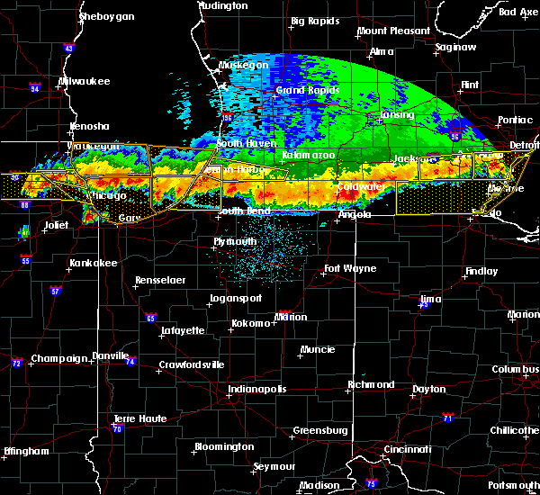Radar Image for Severe Thunderstorms near Fair Plain, MI at 8/2/2015 11:40 PM EDT