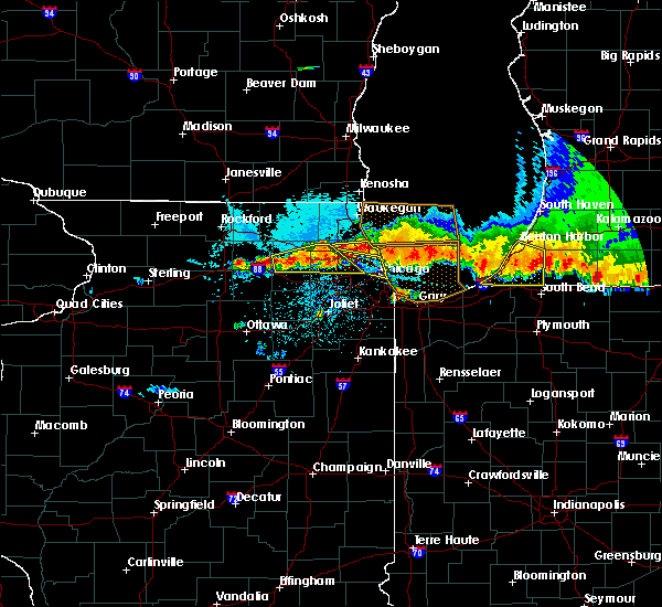 Radar Image for Severe Thunderstorms near Elgin, IL at 8/2/2015 10:50 PM CDT