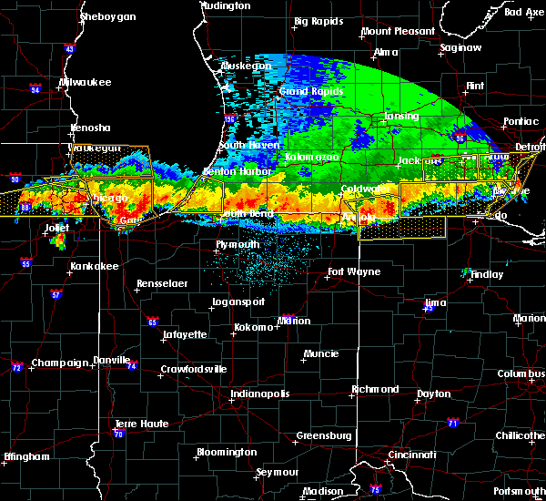Radar Image for Severe Thunderstorms near Niles, MI at 8/3/2015 12:06 AM EDT