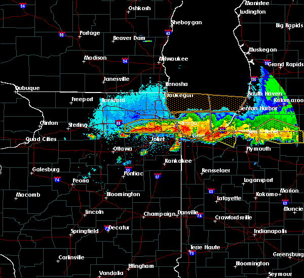 Radar Image for Severe Thunderstorms near Burnham, IL at 8/2/2015 11:25 PM CDT