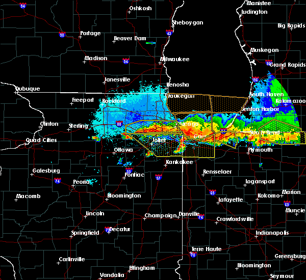 Radar Image for Severe Thunderstorms near Yorkville, IL at 8/2/2015 11:33 PM CDT
