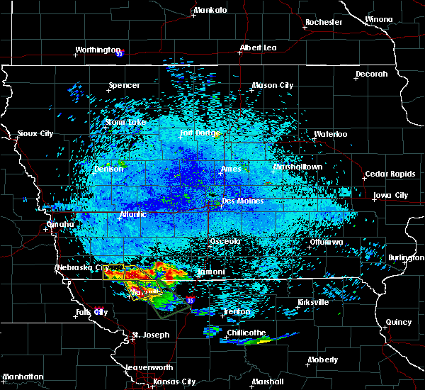 Radar Image for Severe Thunderstorms near Bedford, IA at 8/2/2015 11:38 PM CDT