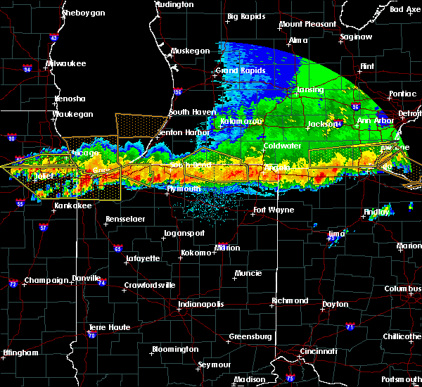 Radar Image for Severe Thunderstorms near Shipshewana, IN at 8/3/2015 12:39 AM EDT