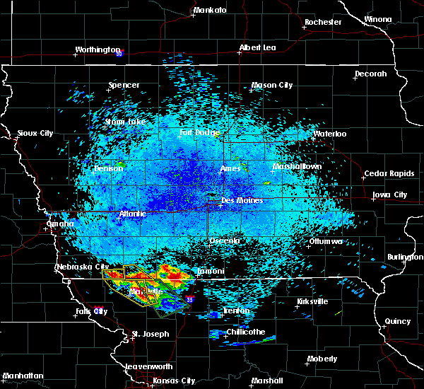 Radar Image for Severe Thunderstorms near Braddyville, IA at 8/2/2015 11:48 PM CDT
