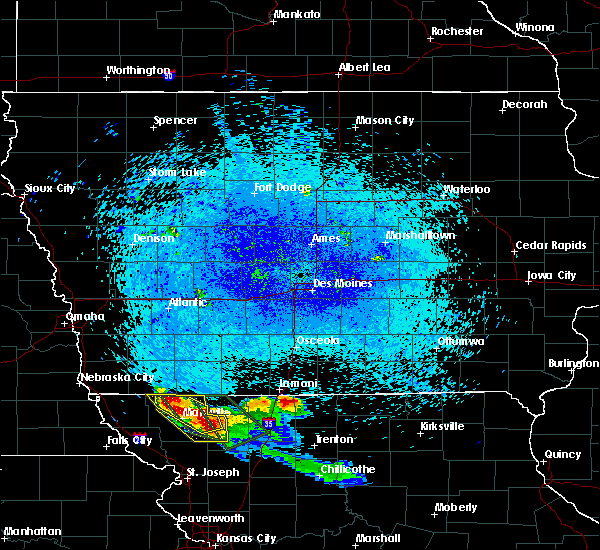 Radar Image for Severe Thunderstorms near Conception Junction, MO at 8/3/2015 12:30 AM CDT