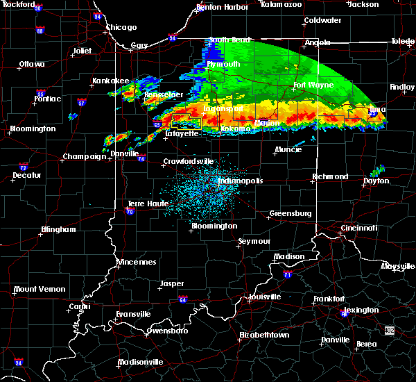 Radar Image for Severe Thunderstorms near Camden, IN at 8/3/2015 2:43 AM EDT