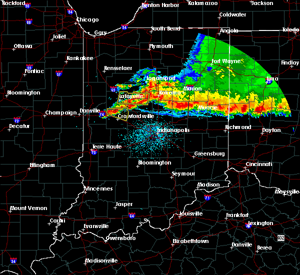 Radar Image for Severe Thunderstorms near Crawfordsville, IN at 8/3/2015 3:34 AM EDT