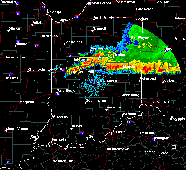 Radar Image for Severe Thunderstorms near Crawfordsville, IN at 8/3/2015 3:46 AM EDT