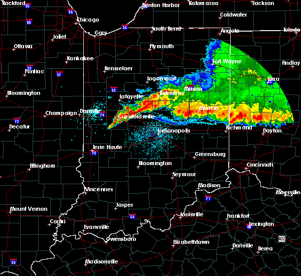 Radar Image for Severe Thunderstorms near Darlington, IN at 8/3/2015 3:55 AM EDT