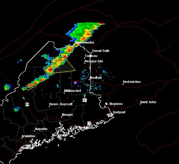 Radar Image for Severe Thunderstorms near Eagle Lake, ME at 8/3/2015 3:39 PM EDT