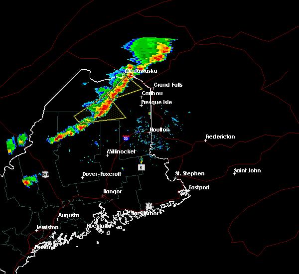 Radar Image for Severe Thunderstorms near Eagle Lake, ME at 8/3/2015 4:01 PM EDT