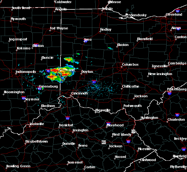 Radar Image for Severe Thunderstorms near Dayton, OH at 8/3/2015 4:41 PM EDT