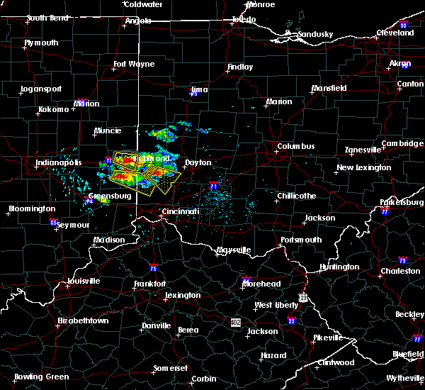 Radar Image for Severe Thunderstorms near New Lebanon, OH at 8/3/2015 4:51 PM EDT