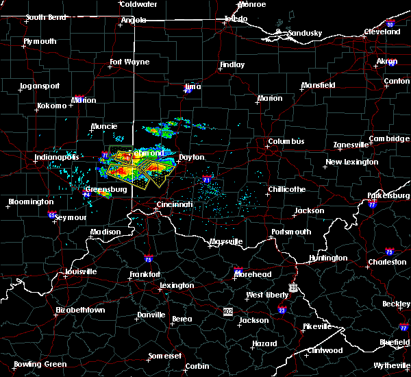 Radar Image for Severe Thunderstorms near Richmond, IN at 8/3/2015 4:54 PM EDT