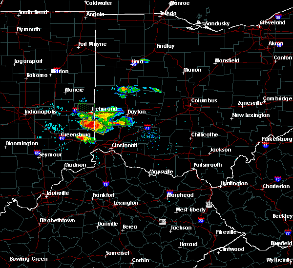 Radar Image for Severe Thunderstorms near College Corner, OH at 8/3/2015 5:10 PM EDT