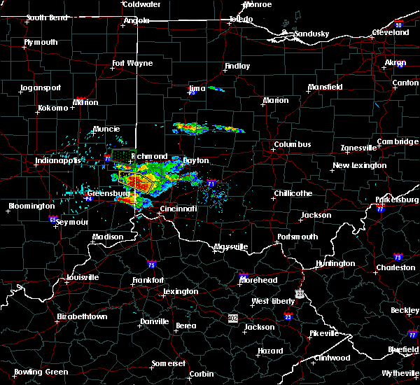 Radar Image for Severe Thunderstorms near Seven Mile, OH at 8/3/2015 5:26 PM EDT