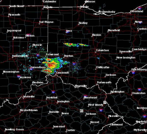 Radar Image for Severe Thunderstorms near Seven Mile, OH at 8/3/2015 5:45 PM EDT