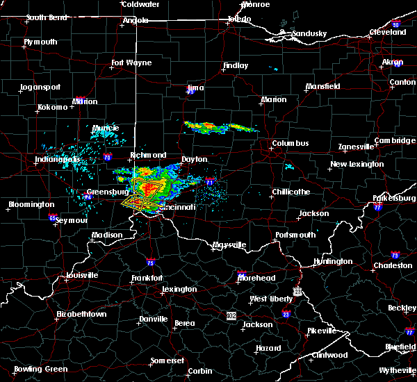 Radar Image for Severe Thunderstorms near Cincinnati, OH at 8/3/2015 5:55 PM EDT